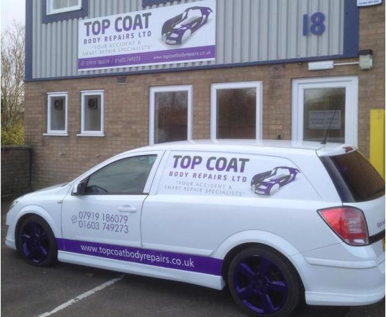 top coat body repairs garage